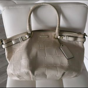 Coach Off White Leather Satchel